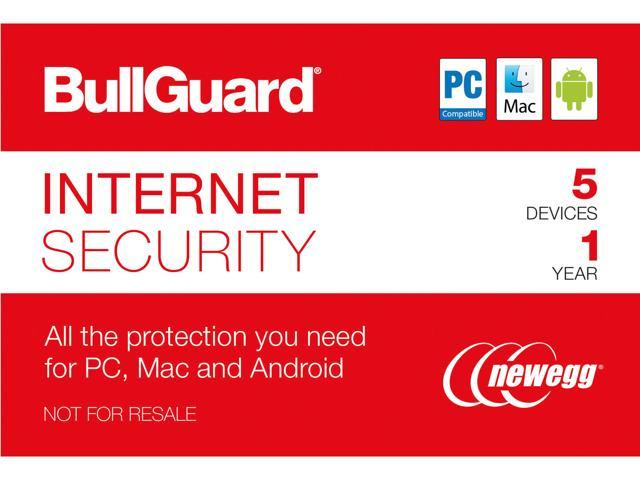 BullGuard Internet Security 2018 - 5 Device / 1 Year